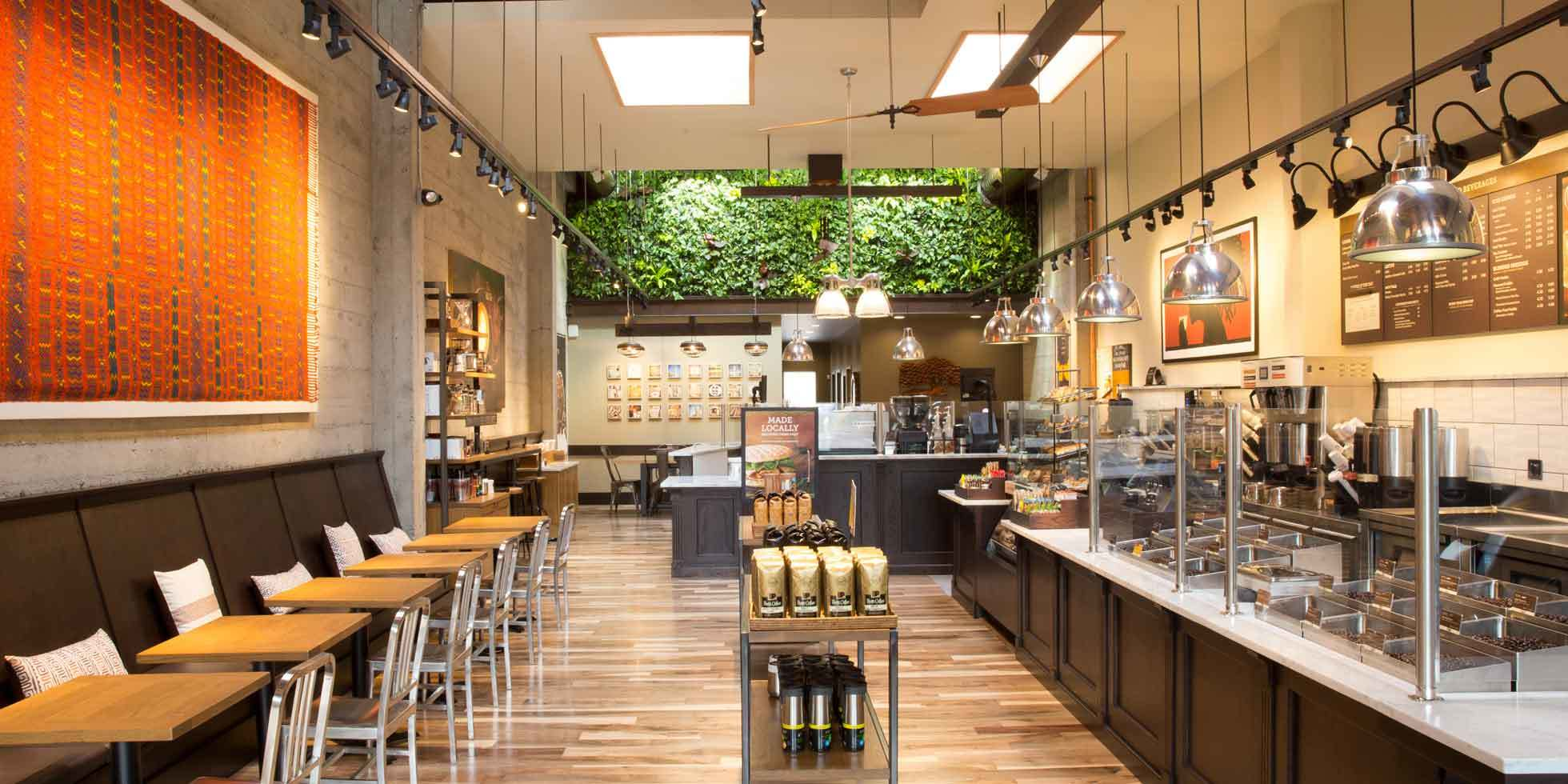 Peet's Coffee & Tea Living Wall by Habitat Horticulture - View 2