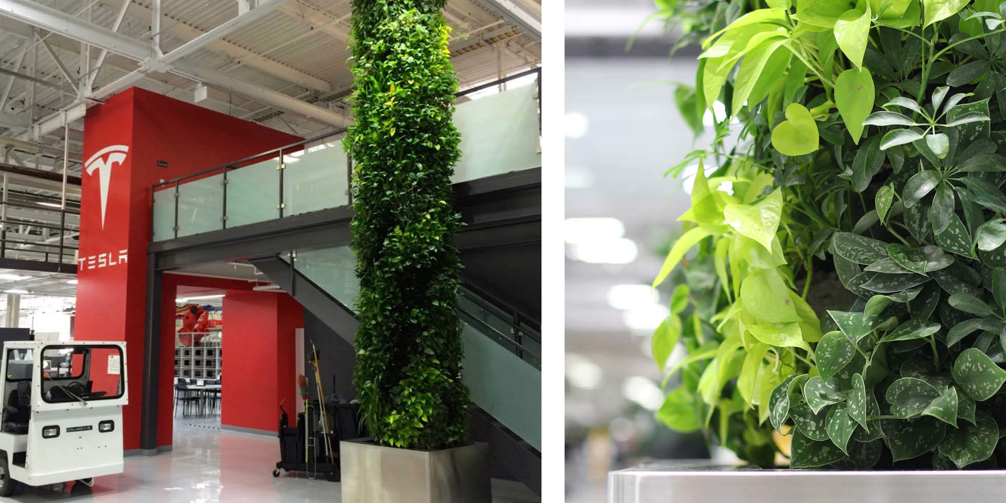 Tesla Factory Living Wall by Habitat Horticulture - View 1