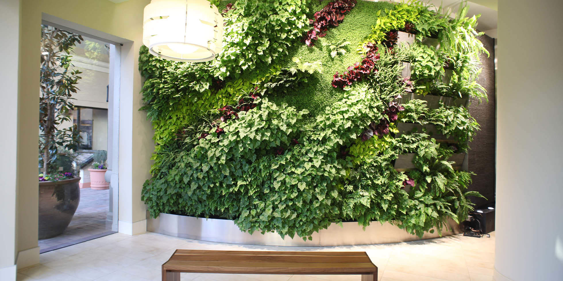 Corte Madera Town Center Living Wall by Habitat Horticulture - View 1
