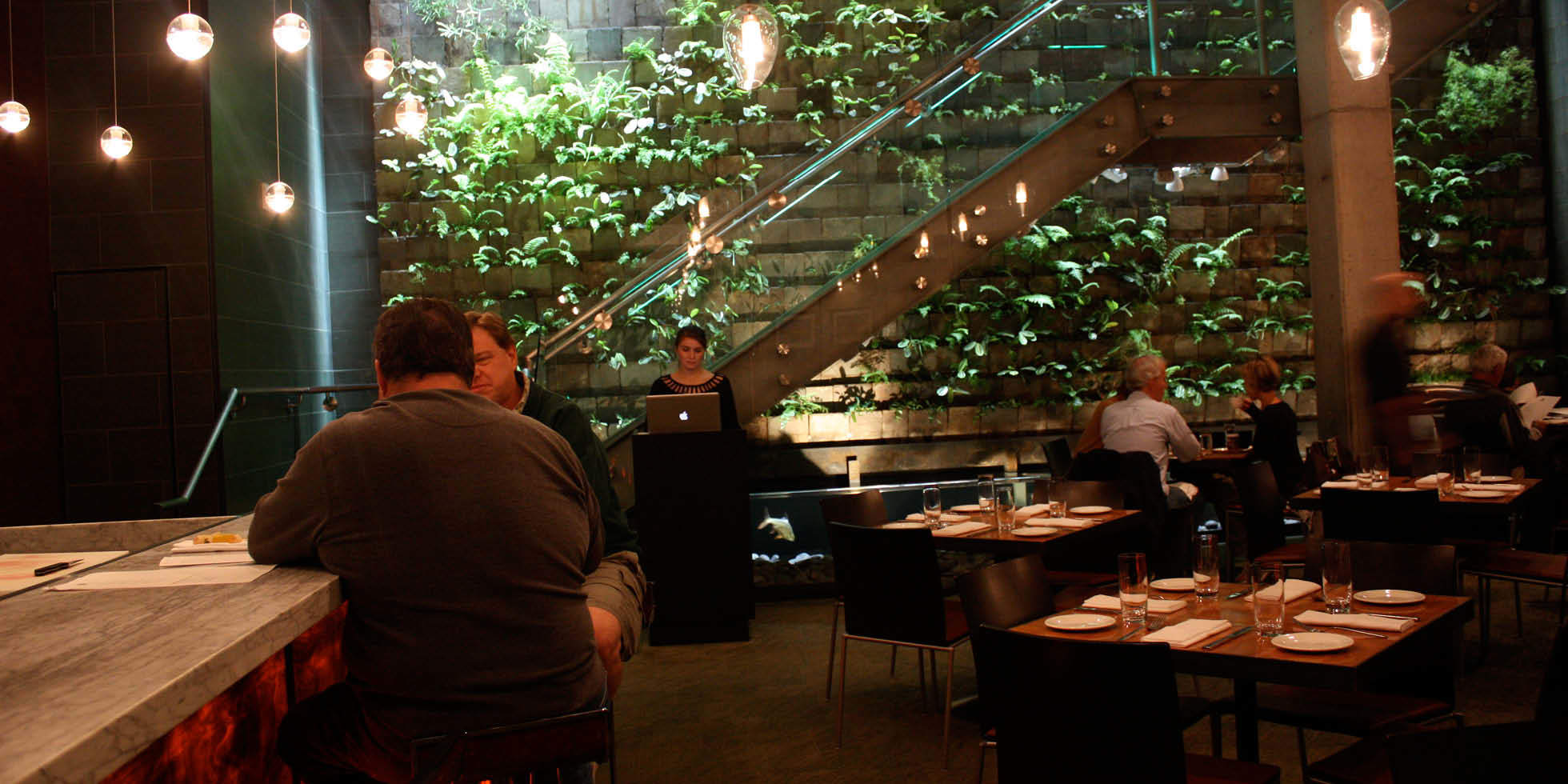 The Moss Room Restaurant Living Wall by Habitat Horticulture - View 4