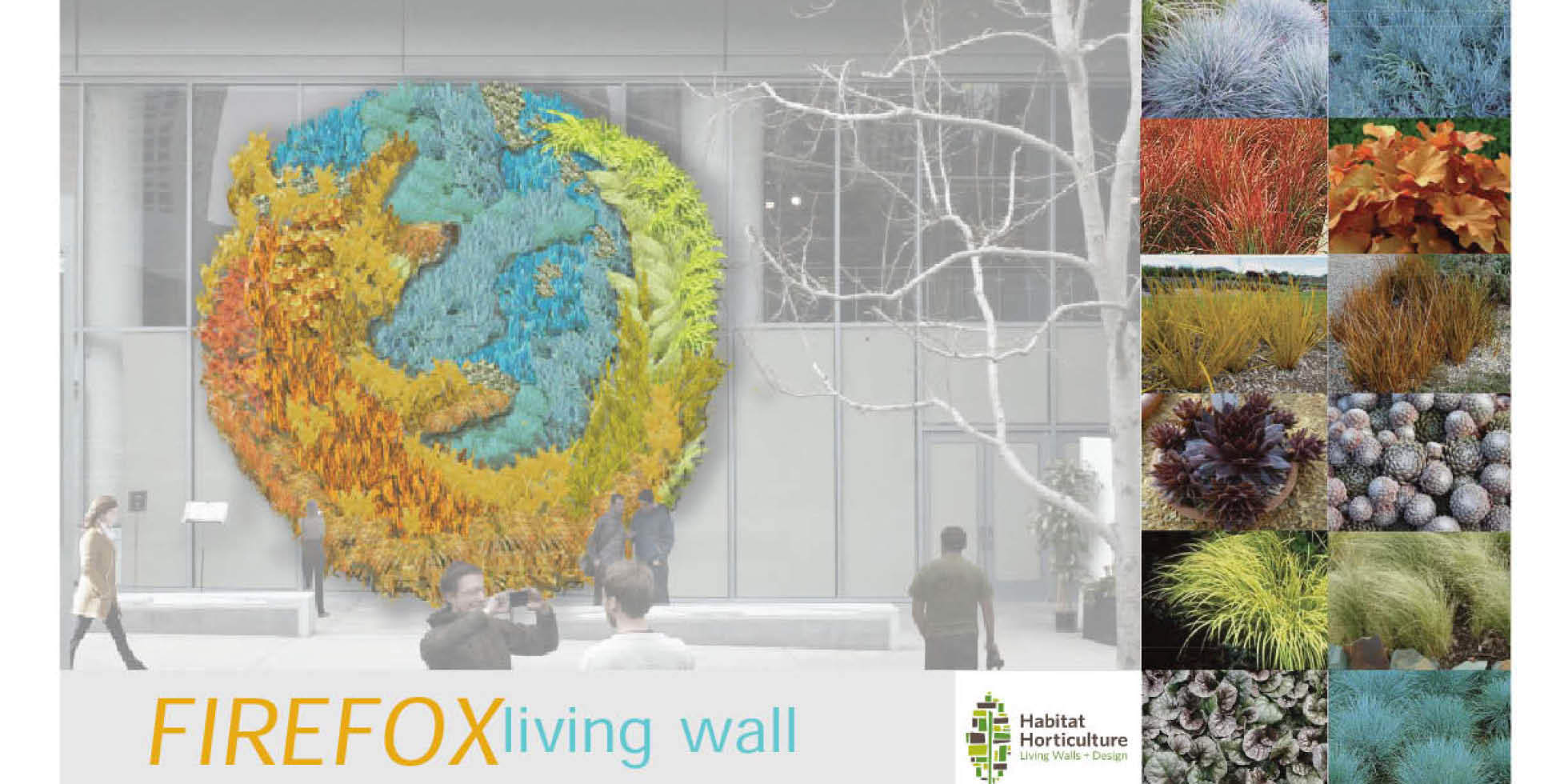 Mozilla Firefox Living Wall by Habitat Horticulture - View 1