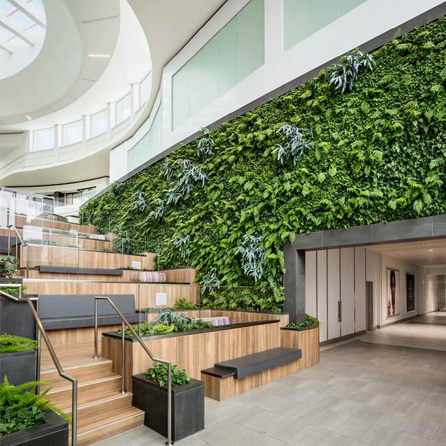 Del amo fashion center living wall vertical garden2