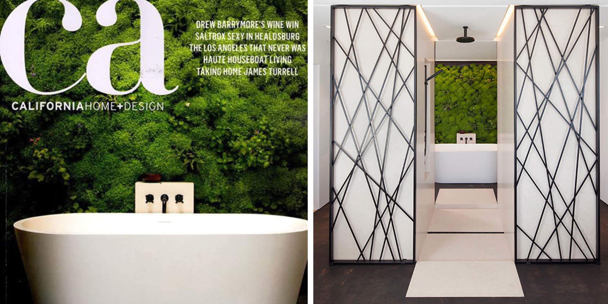 Zen Bathroom Escape Living Wall by Habitat Horticulture - View 2