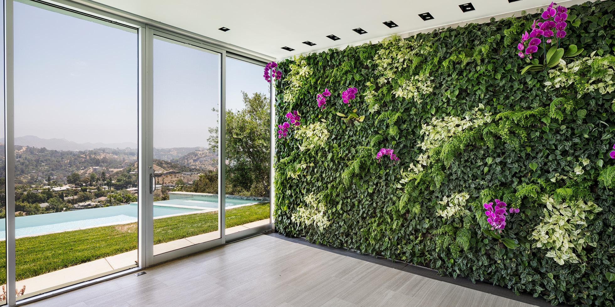 Skyline Residence Living Wall by Habitat Horticulture - View 1