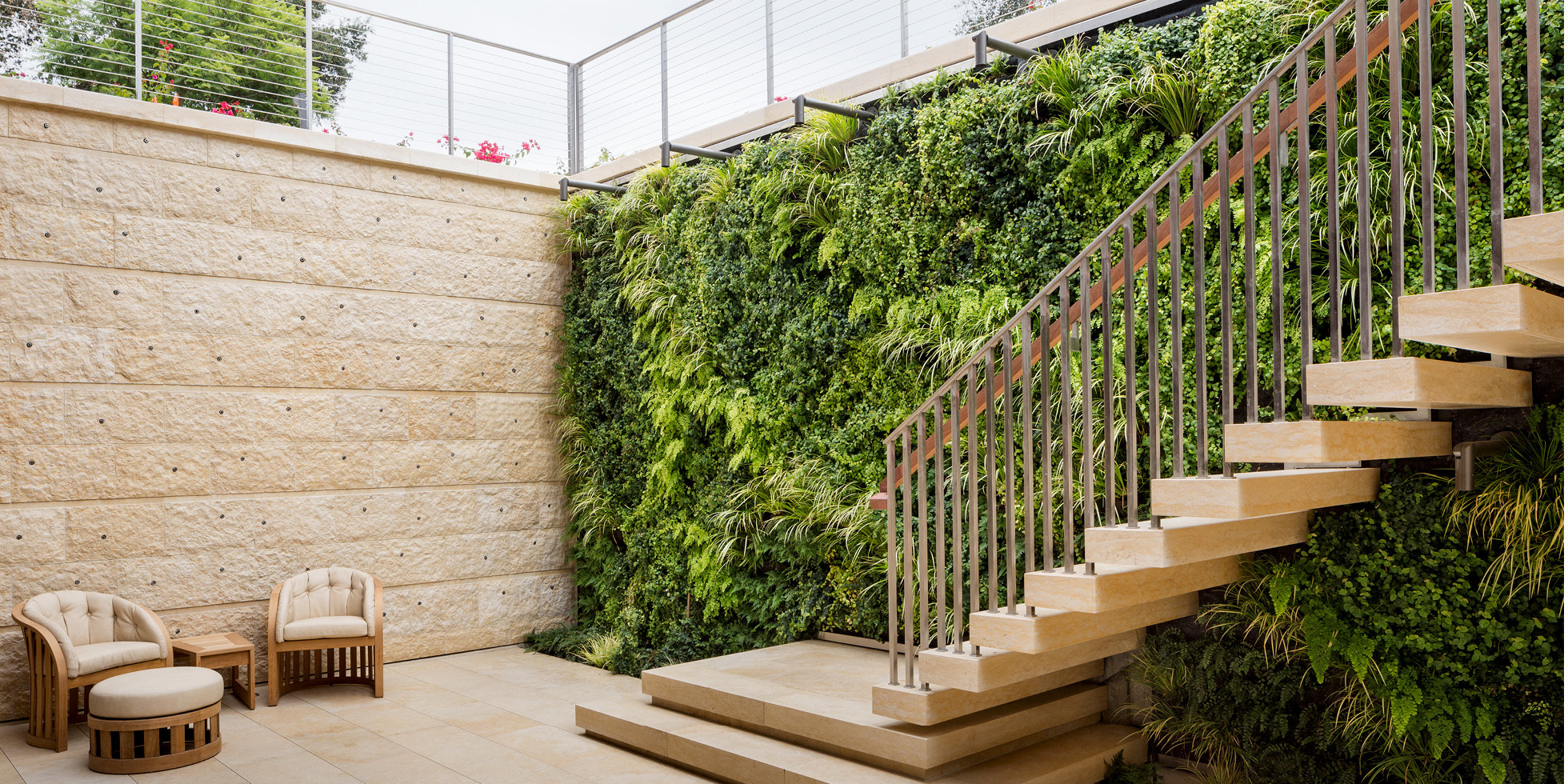 Atherton Residence Living Wall by Habitat Horticulture - View 3