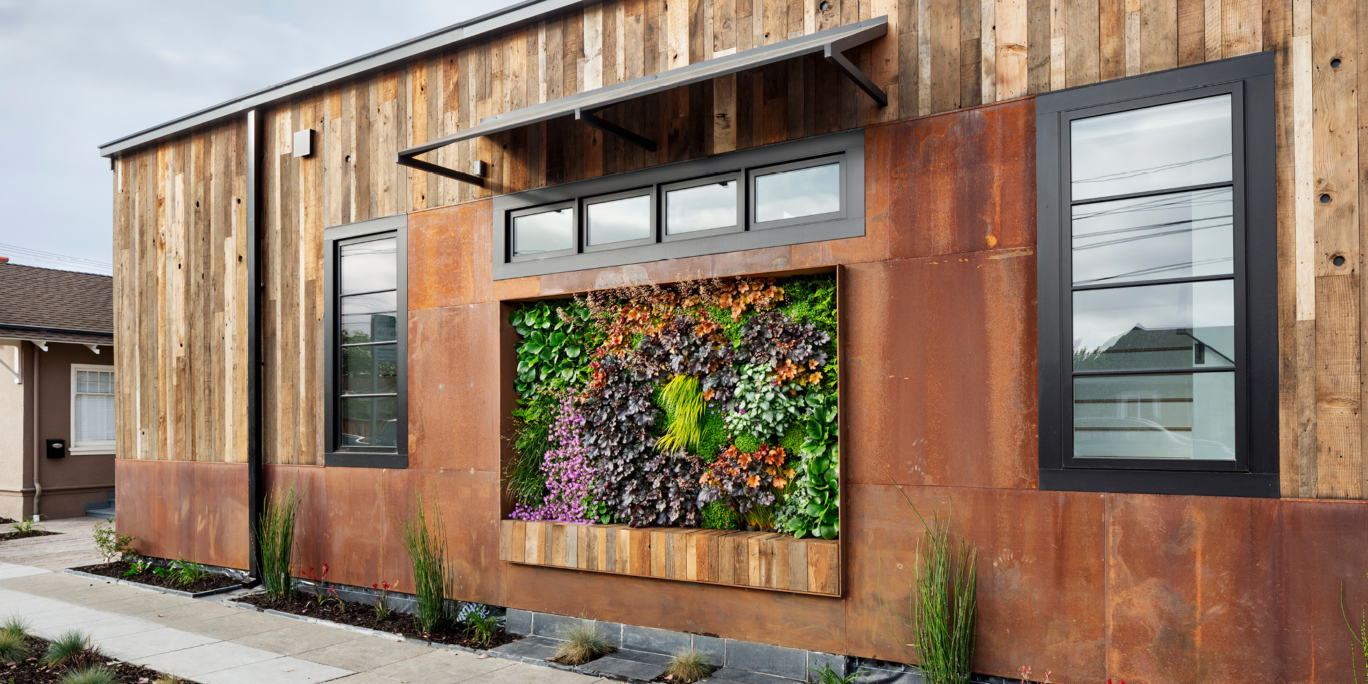 Redwood City Residence Living Wall by Habitat Horticulture - View 4