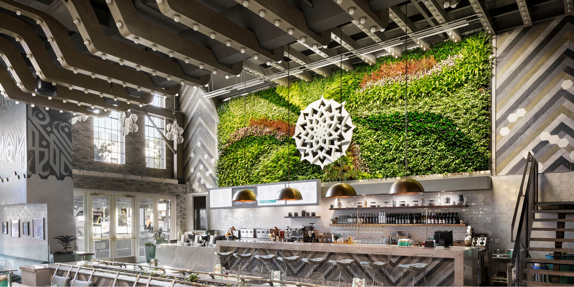 Tocaya Organica Living Wall by Habitat Horticulture - View 1