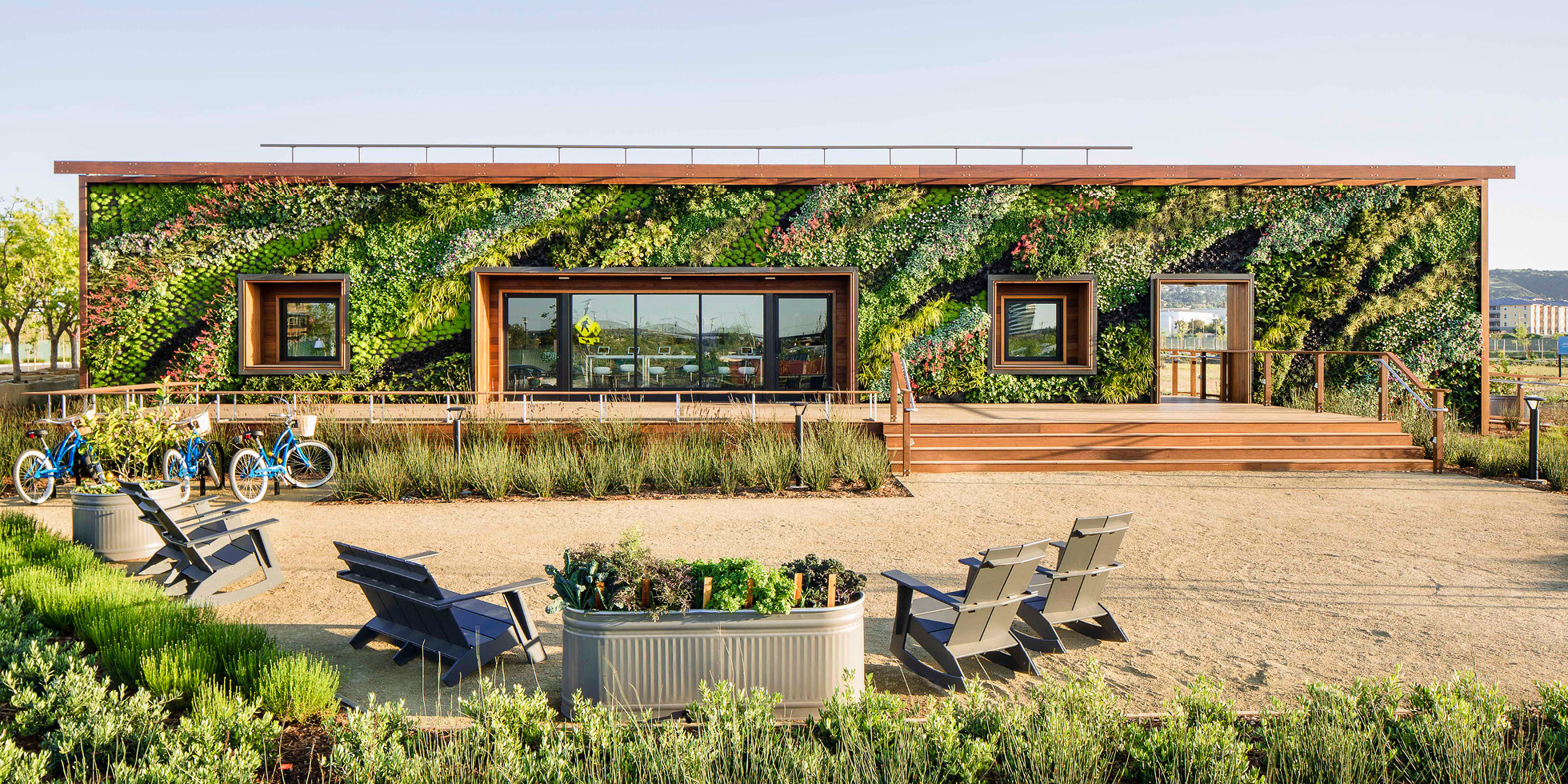 Bay Meadows Welcome Center Living Wall by Habitat Horticulture - View 1