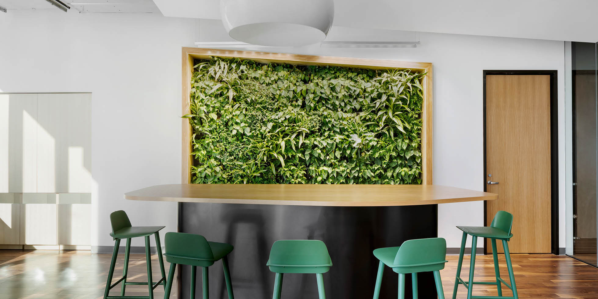 Webcor  Living Wall by Habitat Horticulture - View 1