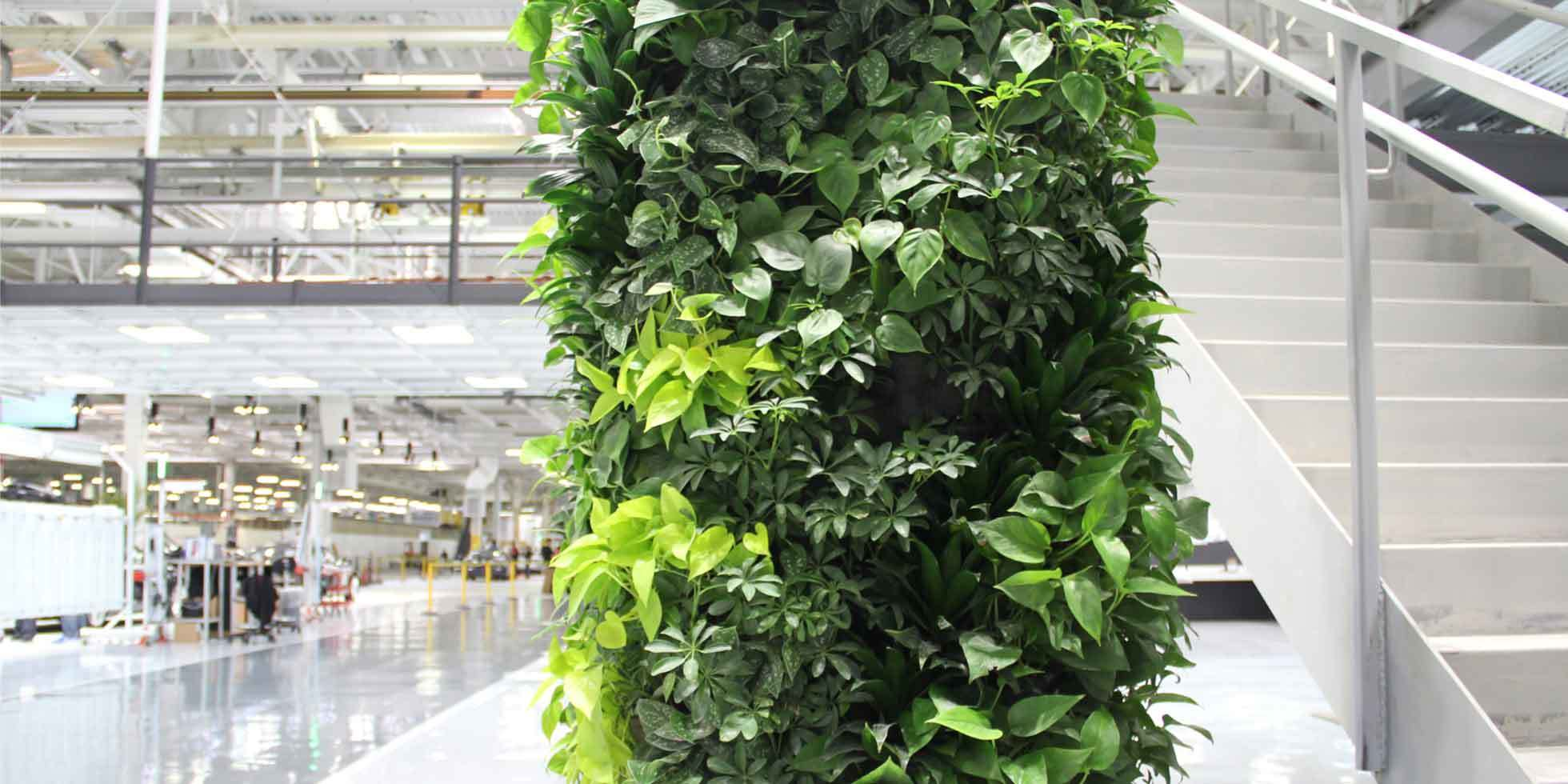 Tesla Factory Living Wall by Habitat Horticulture - View 2