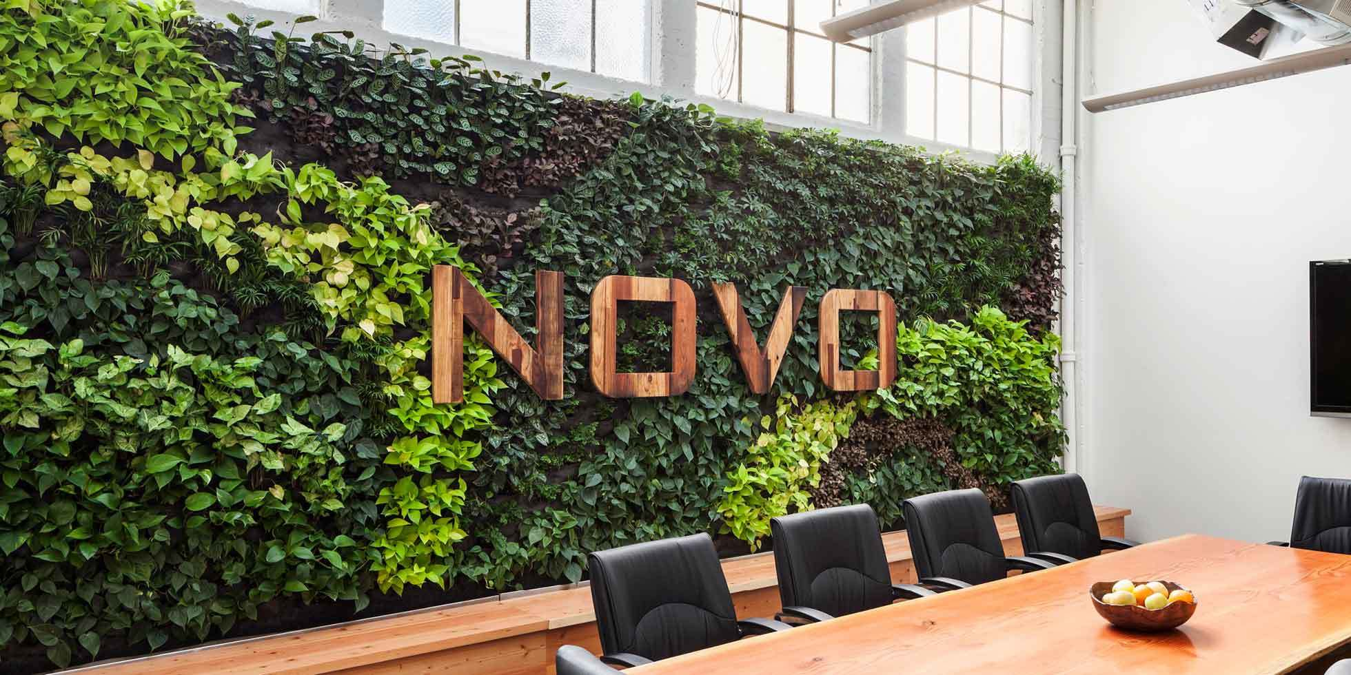 Novo Construction HQ Living Wall by Habitat Horticulture - View 1