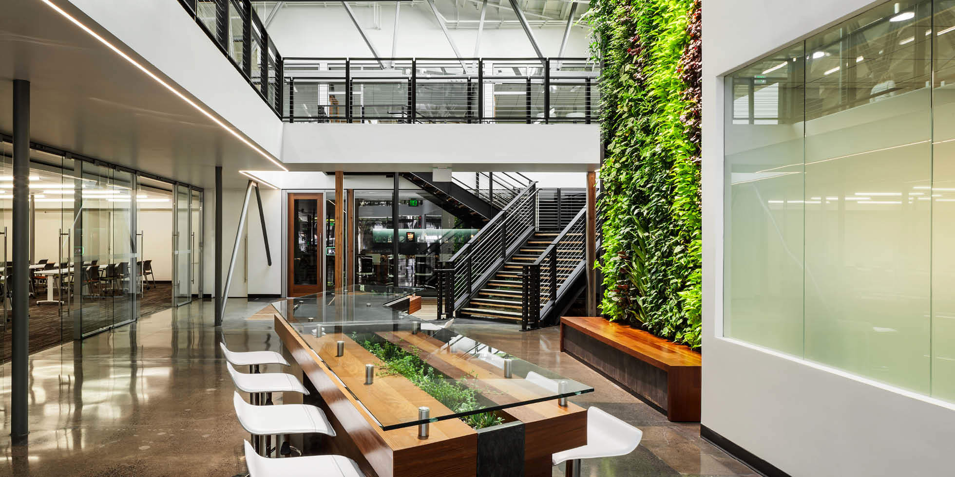 DPR Construction Living Wall by Habitat Horticulture - View 1