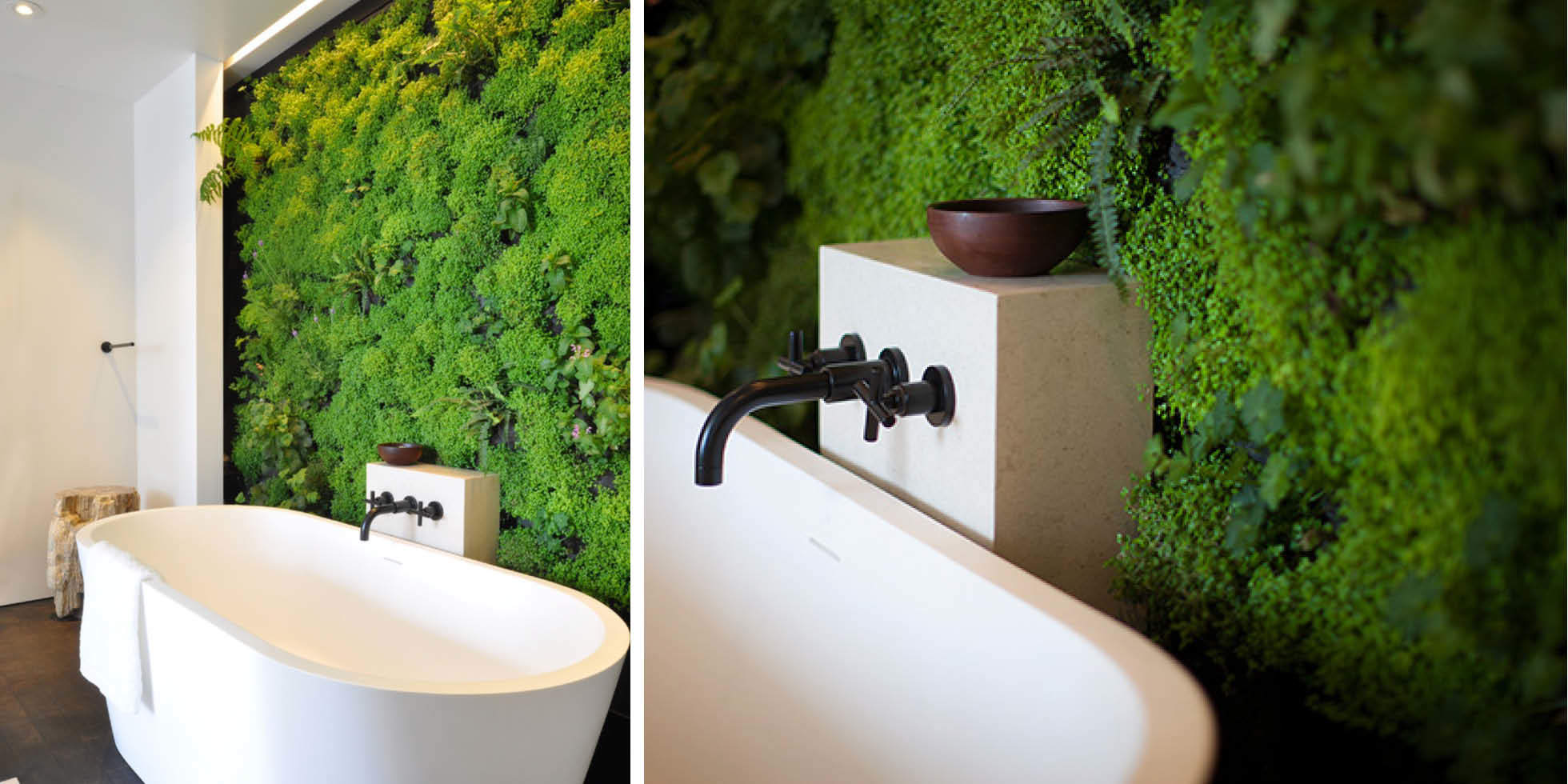 Zen Bathroom Escape Living Wall by Habitat Horticulture - View 1