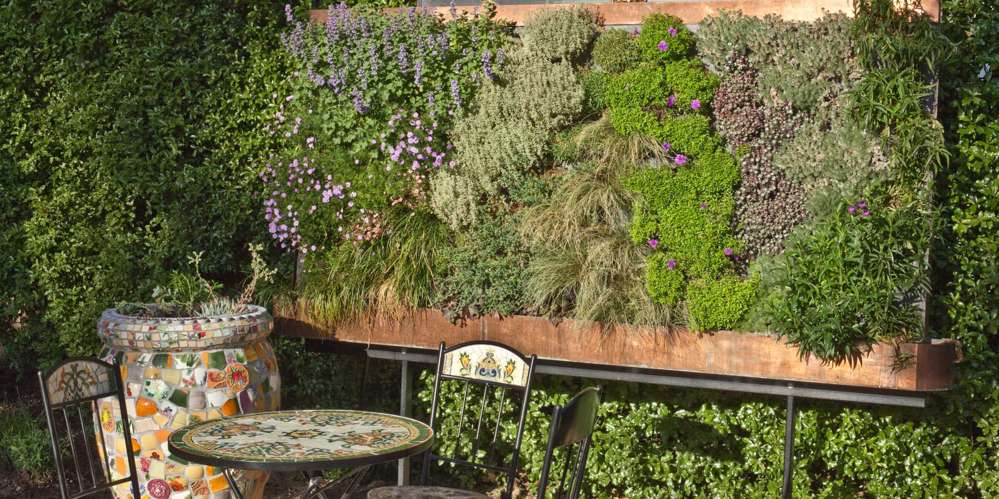 Saratoga Garden Living Wall by Habitat Horticulture - View 1