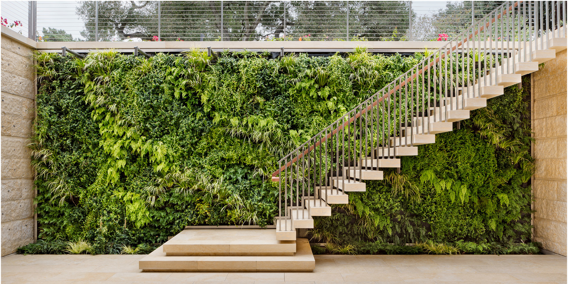 Atherton Residence Living Wall by Habitat Horticulture - View 1