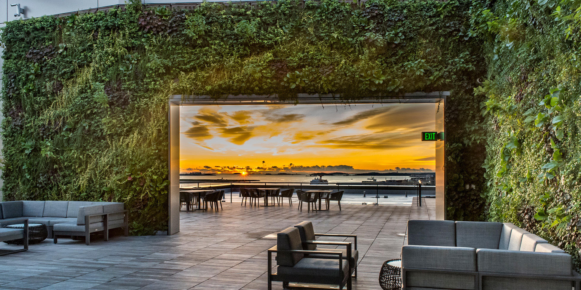 Boston Pier 4 Living Wall by Habitat Horticulture - View 4
