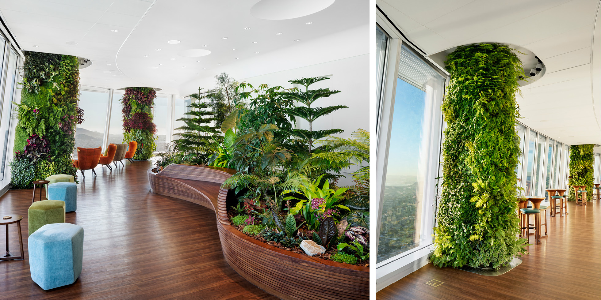 Salesforce Tower  Living Wall by Habitat Horticulture - View 5
