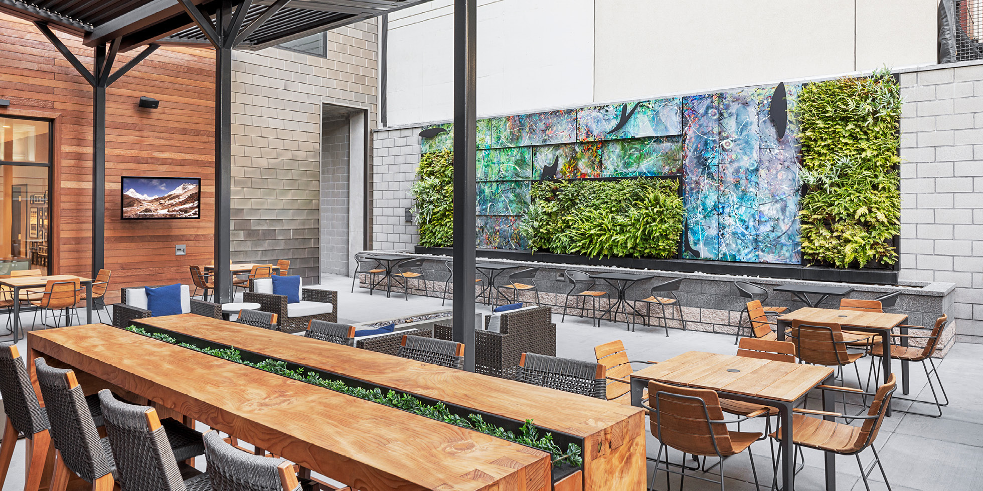 Hyatt Place Living Wall by Habitat Horticulture - View 1
