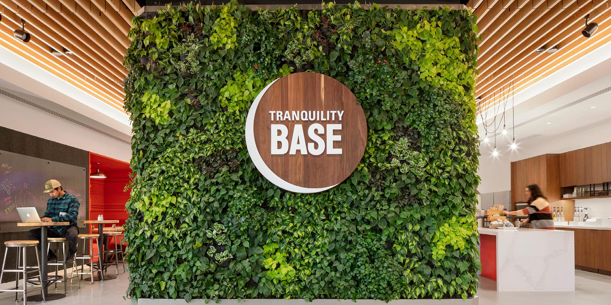 Plantronics Cafe Living Wall by Habitat Horticulture - View 2